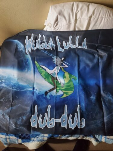 RICK AND MORTY WUBBA LUBBA FLAG photo review